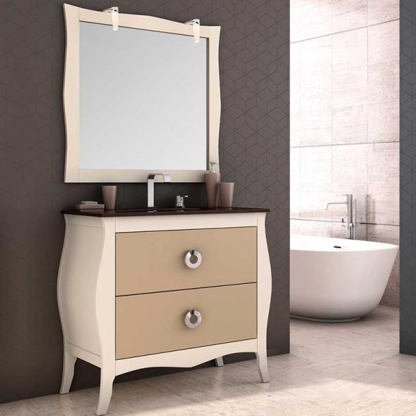 Conjunto Mueble de Baño Mozart Lavabo Cristal