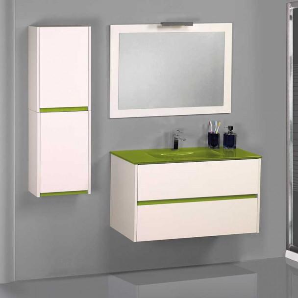Conjunto Mueble de Baño Bora Lavabo Cristal