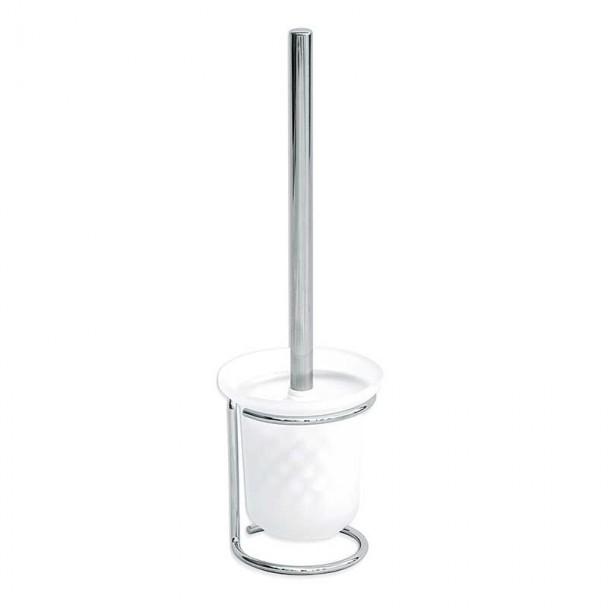 Escobillero Base a Suelo y Vaso Cristal Básico