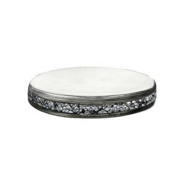 Jabonera Cristal Plata Serie Shiny