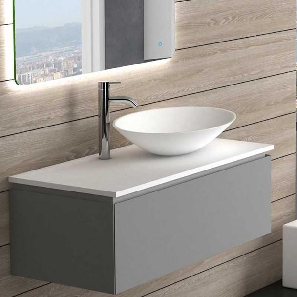 Lavabo Sobre Encimera Oval para Baño